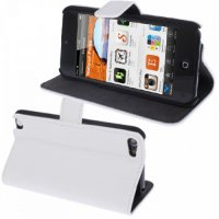 (Recommended) Litchi Leather Case iPod Touch 5 White