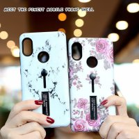 IPHONE 7 PLUS / 8 PLUS CASE FLOWER MARBLE TIMBUL 5D SOFT BACKCASE