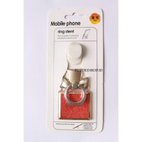 Ring Hook Motif Gliter - Mobile Phone Stand Holder - Cincin Gantungan