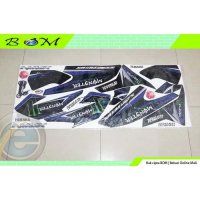 Striping Stiker Sticker yamaha NMAX full body hitam biru monster