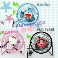 Mini Fan USB Angin Karakter / Cooling / Kipas Portable MOTIF KARAKTER