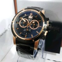 Jam Tangan Alexandre Christie Ac 6142 Pria Black Rose Gold Original
