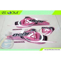 Striping Stiker Sticker Honda BEAT 2009 2010 pink merah muda karbu car