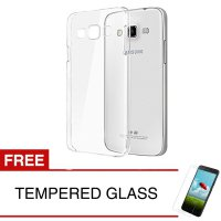 Crystal Case for Samsung Galaxy E5 / E500 - Clear Hardcase - Gratis Tempered Glass