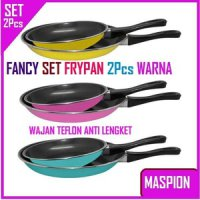 Fancy Frypan Set 2in1 18cm dan 23cm / Teflon Warna Murah by Maspion
