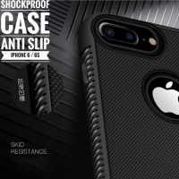 iPhone 6 6S 6G Case Shockproof Anti Slip Slim Black Matte Softcase
