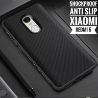 Xiaomi Redmi 5 Case Shockproof Anti Slip Slim Black Matte Softcase