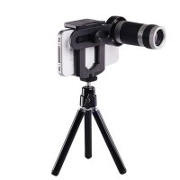 8x Lens Zoom Telescope + Mini Tripod Universal Lensa for Mobile Phone