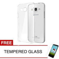 Crystal Case for Samsung Galaxy Grand 2 / G7106 - Clear Hardcase - Gratis Tempered Glass