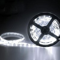 Lampu LED PUTIH White Strip 3528 SMD 5M Flexible Fleksible Hias 5 M