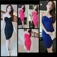 Mini Dress Kemben Hitam