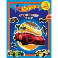 Buku Anak Sticker Book Treasury HOT WHEELS with Over 350 Reusable Sticker