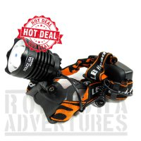SENTER KEPALA POLICE HEADLAMP CREE T6 800.000W CHARGER ZOOM PUTAR HT6B