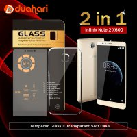 INFINIX NOTE 2 X600 Tempered Glass + Softcase Casing INFINIX X600