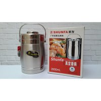 RANTANG TERMOS STAINLESS SUSUN 3 SHUNFA LUNCH BOX FOOD GRADE 2,8LITER