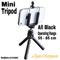 Tripod Mini for Handphone 360 degrees rotational All Black