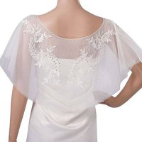 [macyskorea] MISSYDRESS Womens Bridal Wedding Party Lace Appliques Tulle Shawl Cape Wraps /7094300