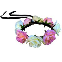 [macyskorea] Dreampixie Light Yellow and Pink Rose Flower Crown with LED Lights/18269463