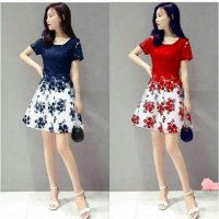 dress flower brukat bhn spandex +brukat to fit L