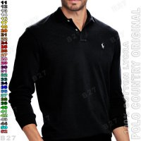 POLO COUNTRY Original C11-11 Kaos Polo Cowok Katun Lycra Hitam