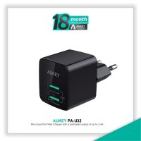 HOT PROMO!!! Aukey PA-U32 Mini Dual Port Wall Charger with Aipower