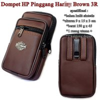 Dompet Kulit Hp 3 resleting HRL brown