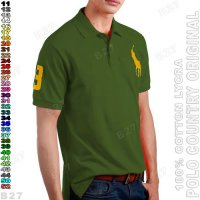 POLO COUNTRY C2-38 Original Kaos Kerah Pria Cotton Lycra Hijau Army