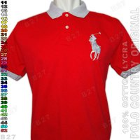 POLO COUNTRY C1-25 Original Kaos Polo Shirt Pria Cotton Merah Cabe
