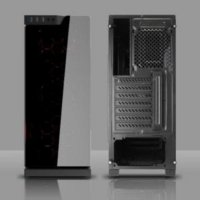 Gaming Cases SQUADRON FR BLUE/RED - FULL TEMPERED GLASS