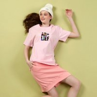 [Akashic Records] Color label Short-sleeve (pink)