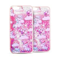 Iphone case cover lovely unicorn dynamic liquid bling star soft phone case