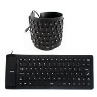 Keyboard Flexible USB - keyboard gulung anti air - Original