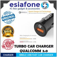 [esiafone top charge] AUKEY Charger Mobil 1 Port 3A Qualcomm Quick Charger QC 3.0 AK-CC-T10 Original
