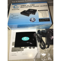 Audio VGA to HDMI HD HDTV Video Converter Box Adapter for Laptop