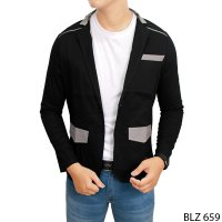Stretch Blazer For Man Streetch Hitam Kombinasi – BLZ 659