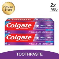 Colgate Maximum Cavity With SAN Cool Mint Toothpaste/Pasta Gigi 160g - Twin Pack