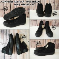 converse all star high - full black / sepatu sneakers / sepatu pria