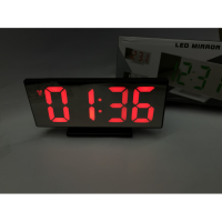 Jam Meja Digital Led Weker RED