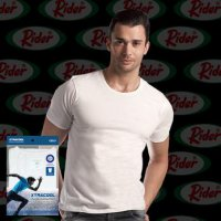 1 Pcs Rider Xtra Cool R258B Round Neck Tshirt Kaos Dalam Pria with Ultimate Cooling Technology