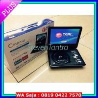 #DVD Player DVD Portable 10inch Tori TPD-901 (USB/MMC/NTSC-PAL/TFT Color/TV Tuner)