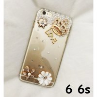 D.I.S.K.O.N LUXURY FASHION Rhinestone bling flower Crown CASE FOR IPHONE 6 6S