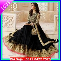 dress cassandra black (sari india || baju india || dress india)