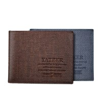 [FREE ONGKIR] Slim Men Leather Bifold Wallet Purse