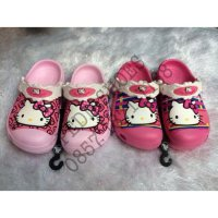 Sandal Crocs Kids and Junior Hello Kitty Face Clog GROSIR dan ECERAN