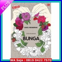 (Seni) Anti Stres: Bunga - Buku Mewarnai (Coloring Book For Adults)