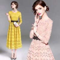 Dir dress brukat premium midi dress super elegant kode 1029
