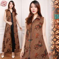 SB Collection Gamis Maxi Dress Alvinsa Longdress Terusan Batik Wanita
