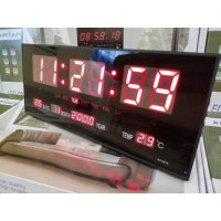 Jam Dinding Digital LED Meja LED Clock RED
