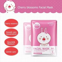 BIOAQUA ANIMAL FACIAL MASK PINK CHERRY ORI IMPORT