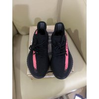 Adidas Yeezy 350V2 Red Strip Real Pic Quality PK Made In China - Hitam, 40